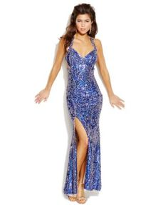 Hailey Logan by Adrianna Papell Juniors' Sequin Cutout Gown | macys.com