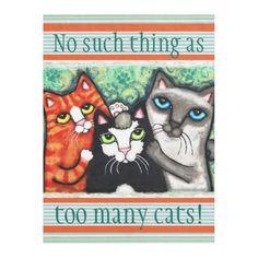 Custom Cat Lovers Cat Art Fleece Blanket