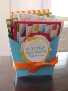Fry Box with Gift Enclosure Cards