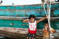 Kampot : Enfants de pêcheurs Chams dans la mangrove - Breizh Shot