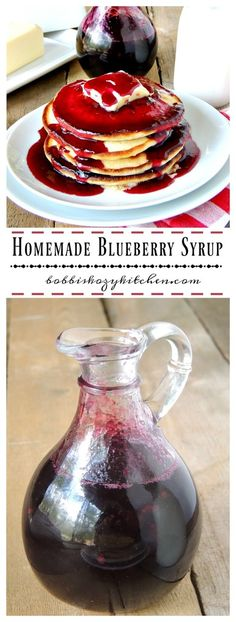 Have a breakfast like Grandma used to make with this easy homemade blueberry syrup recipe. Nothing beats homemade! Blueberry Desserts, Blueberry Breakfast, Blueberry Syrup Recipes, Blueberry Picking, Kombucha, Fruit Recipes, Dessert Recipes, Recipies, Crepes