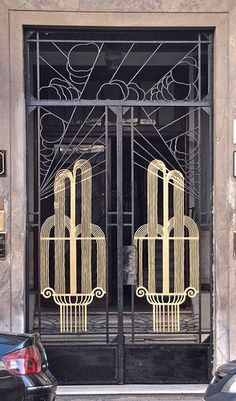 Art Deco Wrought Iron Door, Casablanca