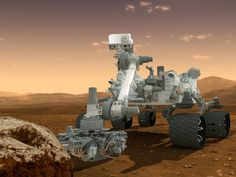 Artist's concept of NASA's Mars Science Laboratory Curiosity rover