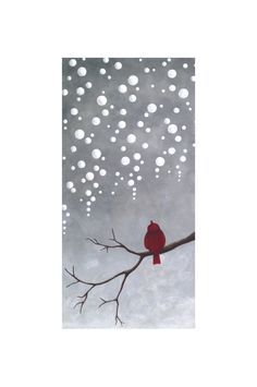 Original Abstract Landscape painting of Sparrow- 10x20 Gallery Canvas by Little Sparrow Gallery. $85.00, via Etsy.
