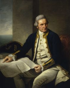 Portrait of James Cook par Nathaniel Dance-Holland, National Maritime Museum, United Kingdom. Captain Cook Monument, Marina Real, Navy Ranks, Captain James Cook, Sea Captain, John Harrison, Mystery, Botany Bay, Middlesbrough
