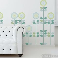 Solsikke Stencil - Buy reusable wall stencils online at The Stencil Studio