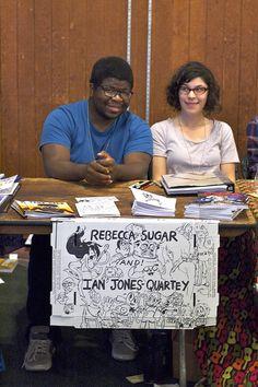 Ian Jones-Quartey & Rebecca Sugar by Marc Arsenault - Wow Cool, via Flickr