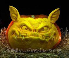 Ray Villafane creates incredible sculptures from ordinary pumpkins.