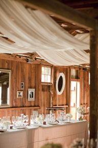 Draping @ a barn wedding! (: