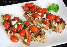 For the Love of Cooking » Chicken Breasts with Tomatoes, Caramelized Onions, and Feta Cheese  Delicious, yo!