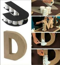 Cómo hacer letras en 3D. Tutorial. DIY