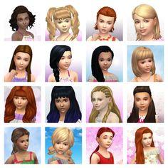 mega post kids hair sims 4