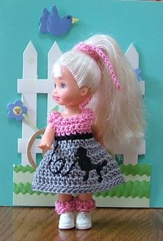 Handmade Kelly Doll Clothes Poodle Skirt Outfit | eBay