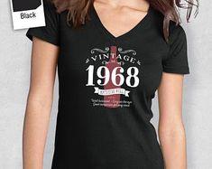 50th Birthday, Women's V-Neck, 50th Birthday Idea, 50th Birthday Present, or Birthday Gift. 1968 Birthday, For The Lucky 50 Year Old!