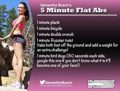 Samantha Busch an workout! This woman kicks some butt!!
