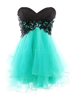Fantastic Lace Ball Gown Sweetheart Mini Prom Dress -SinoSpecial.com