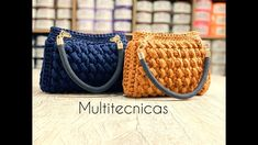 Crochet Clutch Pattern, Crochet Patterns, Jean Purses, Purses And Bags, Crochet Handles, Crochet Bag Tutorials, Yarn Bag, Handmade Leather Wallet, Denim Bag