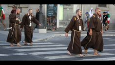 "https://flic.kr/p/dgBktu | Sons of Saint Francis | ""Lord God, you made your servant Francis a perfect follower of your Son: —may we not stray from his footsteps, but faithfully observe the Gospel of Christ"".  Franciscan friars seen in Madrid during World Youth Day 2011."