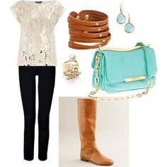 Love it all. Especially the purse and boots.