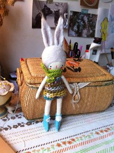 Little traditional clothdoll bunny
