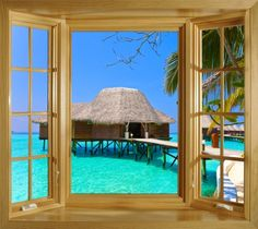 Tropical wall murals on pinterest wall murals beach for El paradiso wall mural