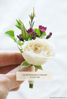 DIY Wedding Flowers : DIY Boutonnieres and Corsages with Flower Muse