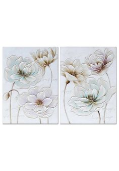 Color Lila, Color Beige, Wall Murals, Wall Art, Abstract Art, Tapestry, Canvas, Flowers, Pattern