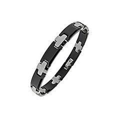 Men's Two-Tone Ceramic and Tungsten Bracelet Gemologica.com offers a large selection of rings, bracelets, necklaces, pendants and earrings crafted in 10K, 14K and 18K yellow, rose and white gold and sterling silver for that special dad. Our complete collection and sale of unique and custom gift and present ideas for father's day 2015 from daughters, sons, kids: www.gemologica.com/mens-jewelry-c-28.html
