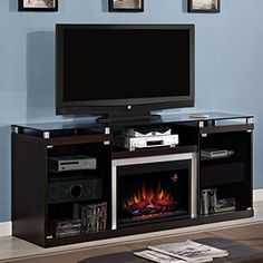 Albright 26 in. Espresso Media Console Electric Fireplace Cabinet Mantel - 26MM9404-E451