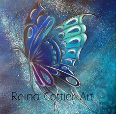 Reina Cottier Art  Butterfly Series #5 www.facebook.com/reinacottierart