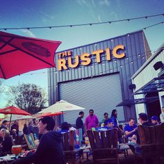 The Rustic in Dallas, TX - Large patio with beautiful oak trees, comfortable picnic tables, and the best food and drinks in town. Add in a relaxed casual atmosphere and friendly, attentive service and this sounds like the perfect happy hour destination! http://therusticrestaurant.com/musicevents/
