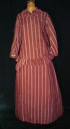 zwangerschapsjurk - Mid 1860's Maternity Dress
