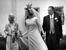 1964. Boda de la princesa Margaretha (hermana del actual rey) con el británico John Ambler en la Capilla del Palacio Real de Estocolmo