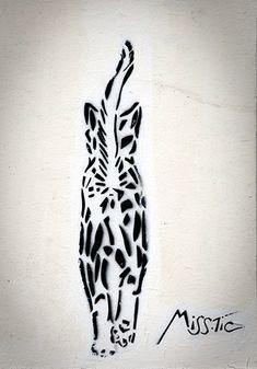 Street cat art by Miss-Tic (Paris)