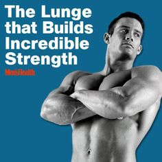 The levitating lunge sounds like a magic trick, but it's also an incredible way to build strength and muscle in your lower body. http://www.menshealth.com/fitness/bizarre-looking-lunge-builds-incredible-strength?cid=soc_pinterest_content-fitness_aug14_lunge