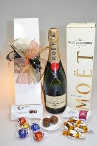 Make Mum feel special with a Moet Surprise hamper. The surprise is inside the box!