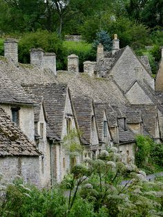 Arlington Row  Cottages,Cotswolds, Gloucestershire, England