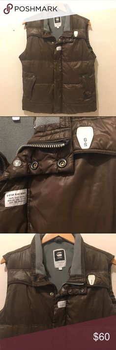 Men's Vest Brown outerwear Vest for men by G-Star Raw. Perfect condition. Extra warm. #K087 G-Star Jackets & Coats Vests