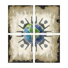 World Peace (Quad) Canvas Prints by Groovyal