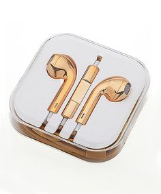 Flossy! Metallic Gold Earbuds $9.99 was $16