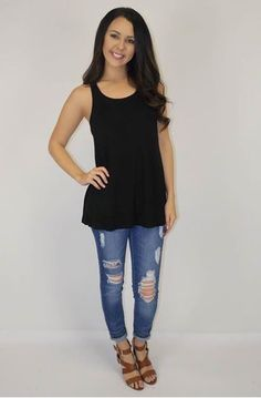 Picture of Lived In Double Layer tank (black)