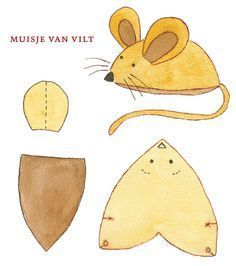 muisje van vilt – Best Baby And Baby Toys Animal Sewing Patterns, Felt Patterns, Stuffed Animal Patterns, Diy Stuffed Animals, Mouse Crafts, Felt Crafts, Fabric Crafts, Sewing Toys, Sewing Crafts