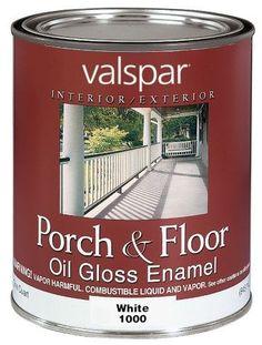 Valspar Interior And Exterior Oil Porch & Floor Enamel 1 Quart