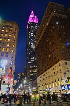 Empire State Building Goes Pink