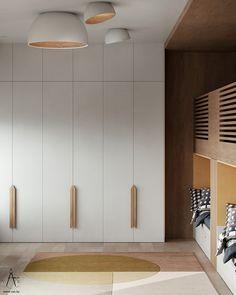 Bedroom Closet Design, Bedroom Furniture Design, Home Room Design, Minimalist Closet, Minimalist Home Interior, Wardrobe Cabinets, Wardrobe Doors, Wardrobe Handles, Wardrobe Door Designs