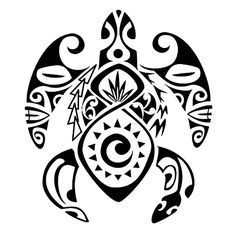 polynesian_turtle_tattoo_with_sun_tikieye_flax_leaves.jpg (600×600)