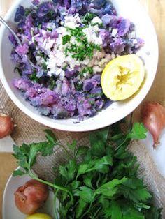 Smashed Purple Peruvian Potatoes