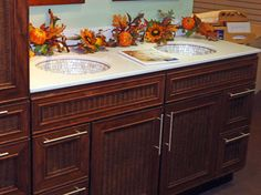 In Our Showrooms tropical bathroom vanities and sink consoles