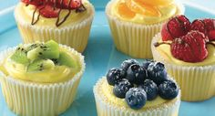 These luscious cheesecakes are gently flavored with Vanilla and Almond Extract. Sized just right, they can be garnished with fresh or canned fruit topping.