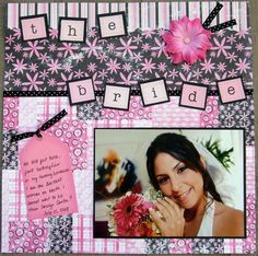I really need to get back into scrapbooking and work on a wedding book